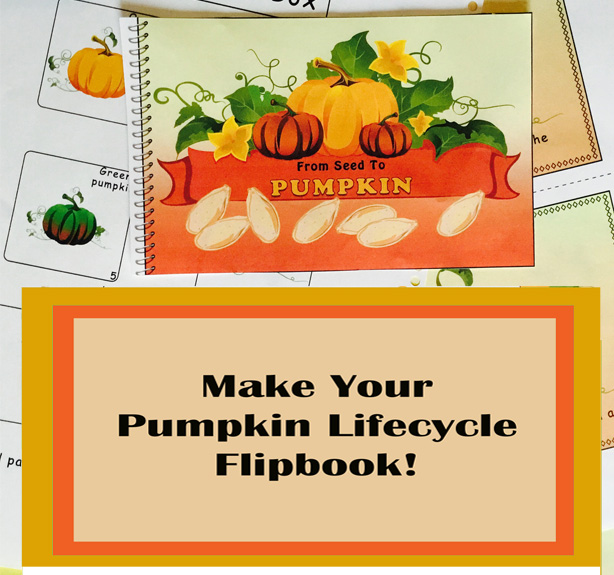 "How to make your own ""PUMPKIN FLIP-BOOK"" this season."