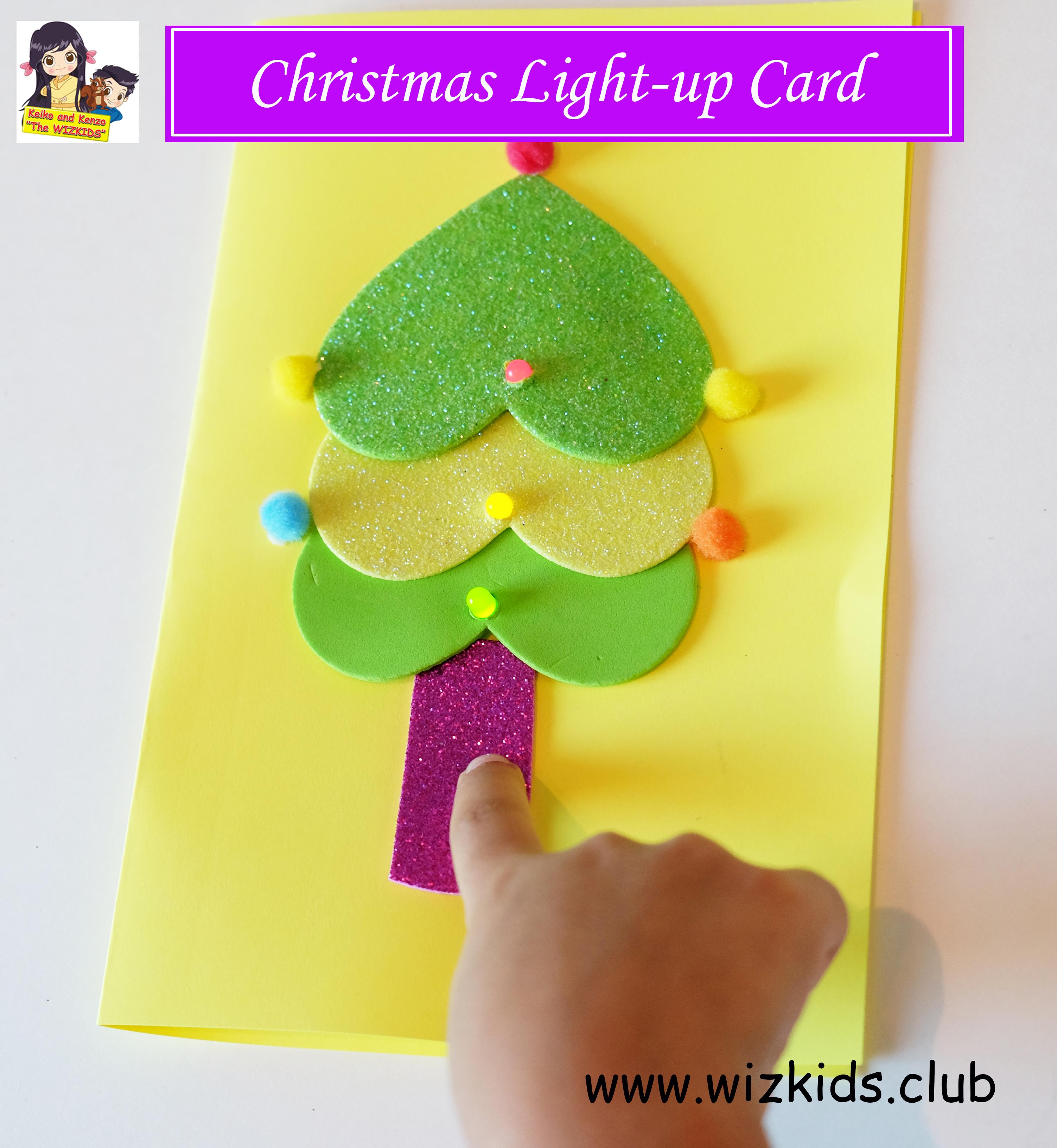 CHRISTMAS LIGHT-UP CARD! DIY FOR KIDS