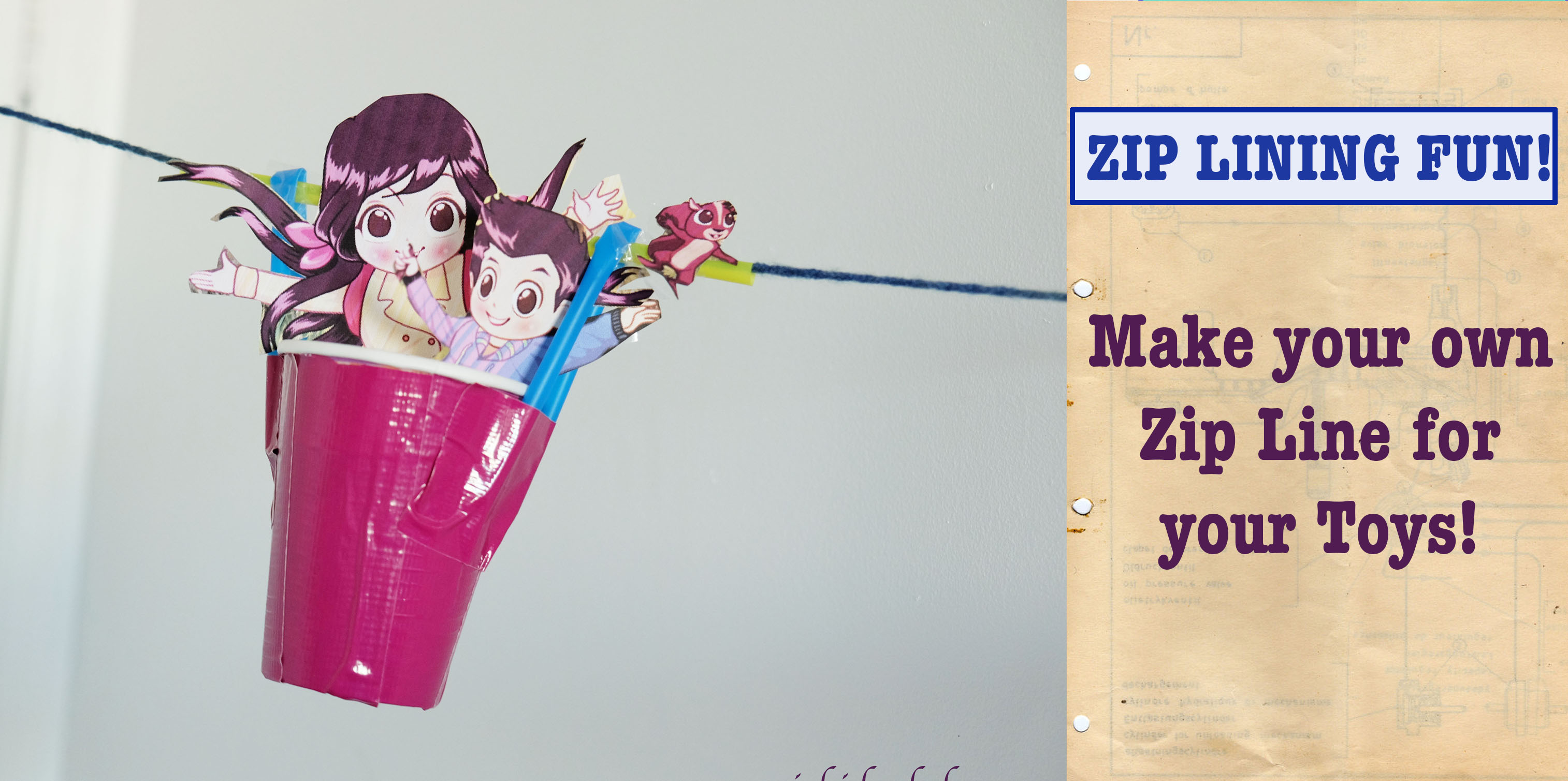 Zip-lining Fun for this Season! How to make it with kids