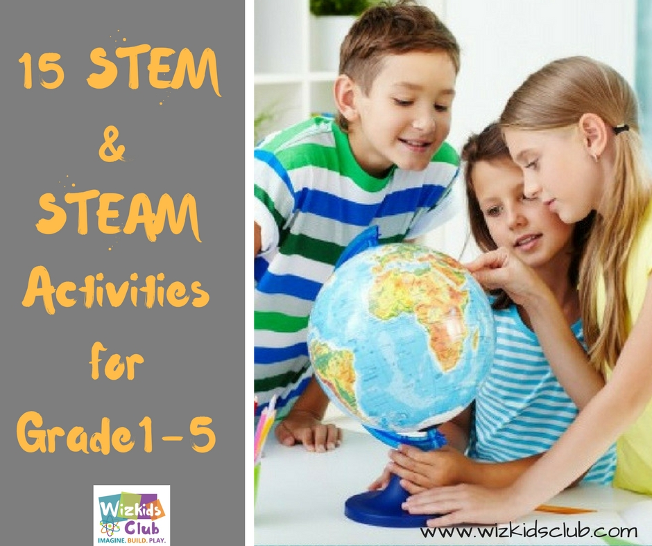 15 STEM and STEAM Activities for Grade1-5