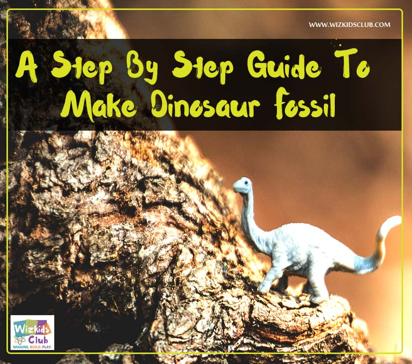 A step by step guide to make dinosaur fossil