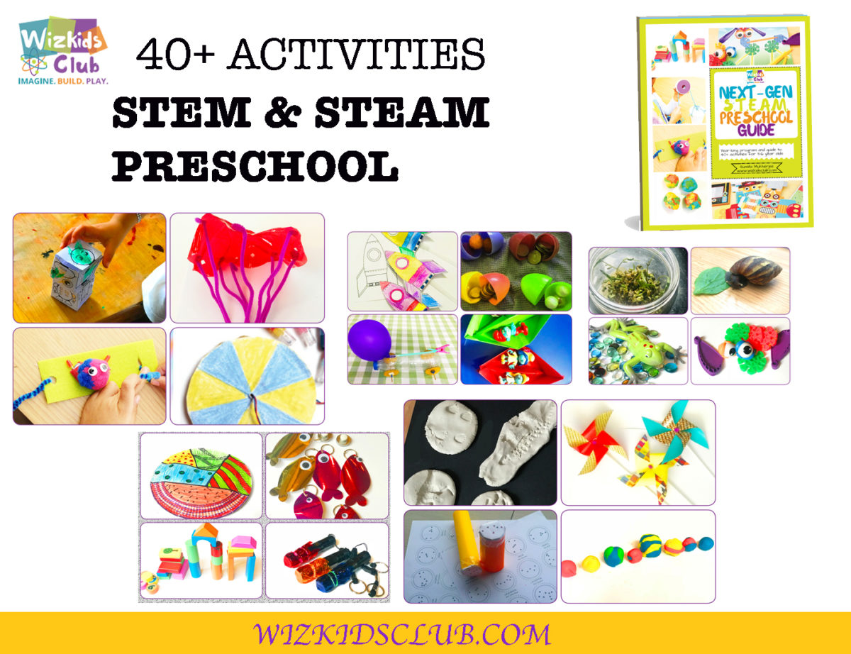 40+ ACTIVITIES FOR STEM & STEAM FOR PRE-SCHOOL