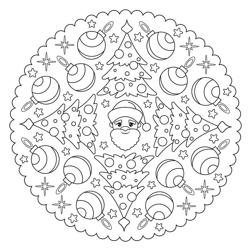 christmas mandala